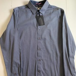 Ted Baker Button Down Shirt Contrasting Cuff Large